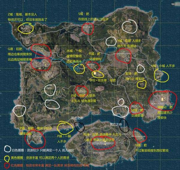 绝地求生刺激战场地图怎么看?一张图秒懂!